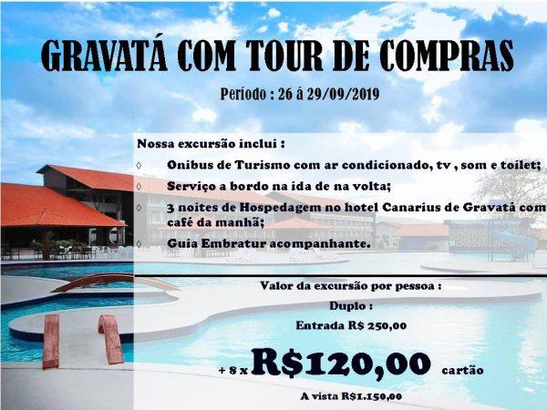 GRAVSATA COM TOUR DE COMPRAS